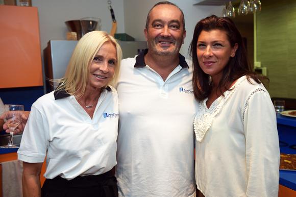 4. Nadine Louvrier, Pierre Nallet (AnaHome Immobilier) et Delphine Lalliard (Brune Events)