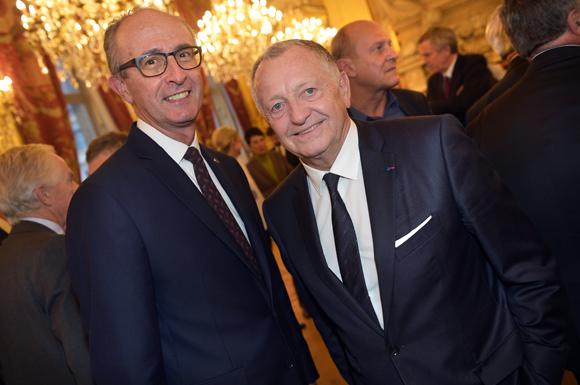 11. Jacques Bourguignon, directeur général Sofitel Lyon Bellecour et Jean-Michel Aulas président de l'OL