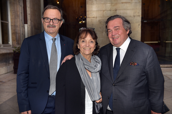 1. Jean-François Carenco, Préfet de l'ile de France,  son épouse Magalie et Olivier Ginon, président de GL Events