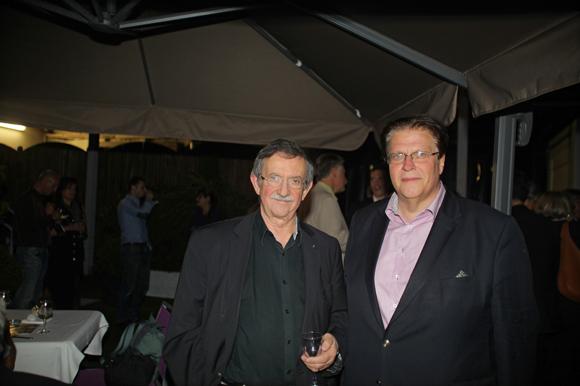 14. Yvon Deschamps et le journaliste Florent Dessus (Vox Rhône-Alpes)