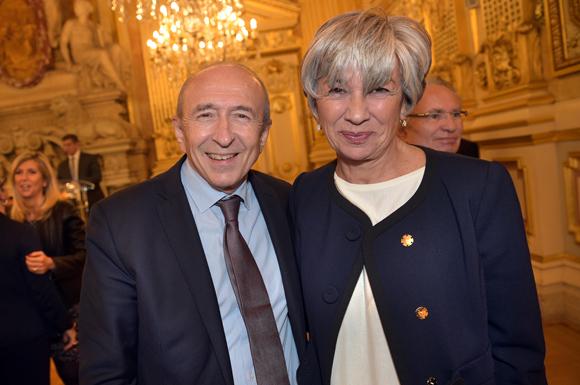 15. Gérard Collomb, sénateur maire de Lyon et Florence Verney-Carron, vice-présidente du Conseil régional