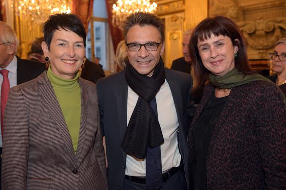 16. Thérèse Rabatel, adjointe à l'égalité des femmes, Olivier Bernardeau (Olympique Lyonnais) et Agnès Benoist, responsable des relations presse de la ville de Lyon
