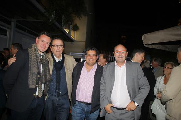 17. Lionel Boucher, adjoint au maire de Saint-Étienne, Philippe Vorburger (Le Hub de l'Île Barbe), Laurent Chabbat (Tonic Radio) et Gérard Angel (Les Potins d'Angèle)