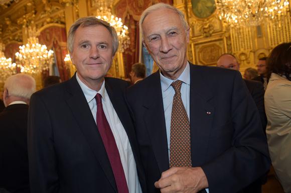 17. Rémy Weber, président de la Banque Postale et Bruno Lacroix (Fondation Hospices Civils de Lyon)