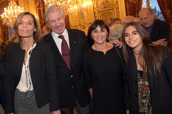 18. Claude Polidori (président des Halles de Lyon), son épouse Barbara, Dominique Brumm et Carla Gazil