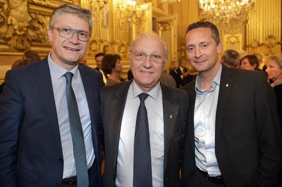 21. Thierry Pouzol, maire de Fontaine sur Saône, Marc Grivel, maire de Saint Cyr au Mont d'Or et Renaud George, maire de Saint Germain au Mont d'Or
