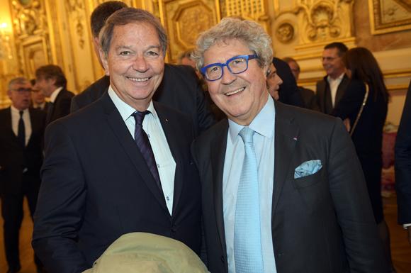 2. Jean-Pierre Calvel, vice-président du Grand Lyon et Roland Bernard, vice-président du Grand Lyon