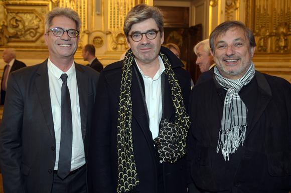 24. Pierre Budimir, attaché de presse du maire, Dominique Delorme (Nuits de Fourvière) et Thierry Todori (Halle Tony Garnier)