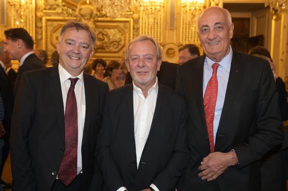 26. Guy Mathiolon, président de Serfim, Jean-Claude Lavorel (Lavorel Hôtels) et Paul-Henri Watine