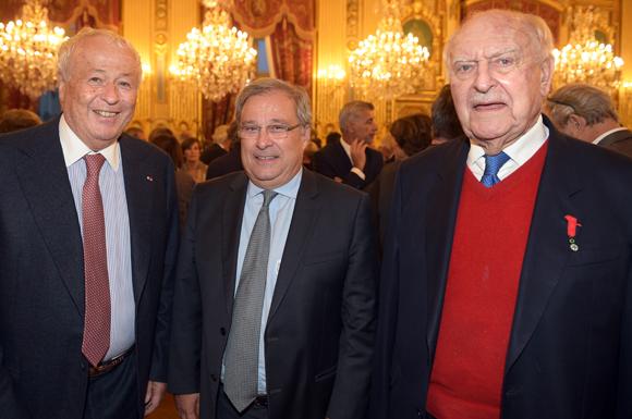 28. Alain Mérieux, Emmanuel Imberton, président de la CCI de Lyon et Bernard Sonnier