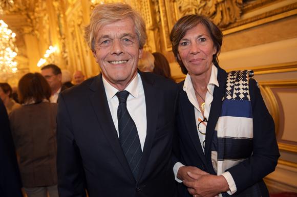 8. Erick Rostagnat (GL Events) et son épouse Christine