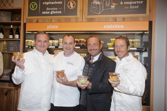 12. Yves Hunckler (Boco), le chef Christophe Roure (Le Neuvième Art), Vincent et Simon Ferniot