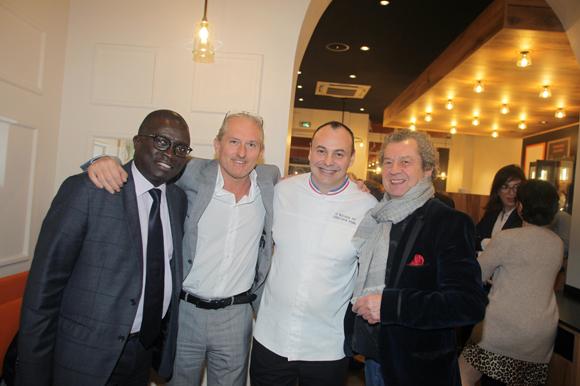 26. Laye Diop (Marriott Hôtel), Pascal Auclair (France Médias), Christophe Roure (Le Neuvième Art) et André-Claude Canova