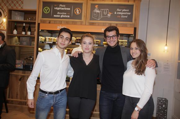3. Alexandre Grimaldi, Maëlys Guette, Victor Hunckler et Victoria Perrier