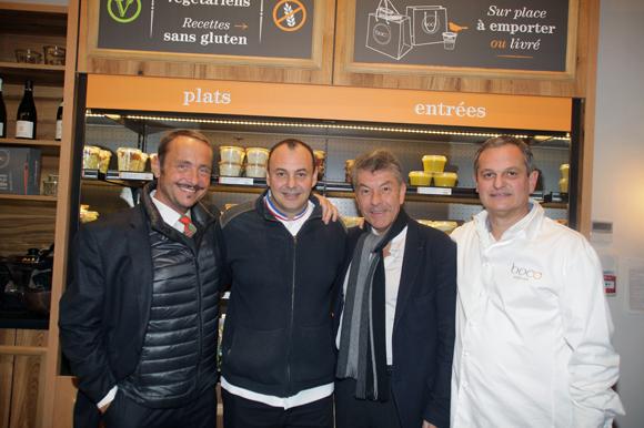 31. Vincent Ferniot, créateur du concept Boco, Christophe Roure (Le Neuvième Art), le chef Régis Marcon et Yves Hunckler, fondateur de la franchise Boco