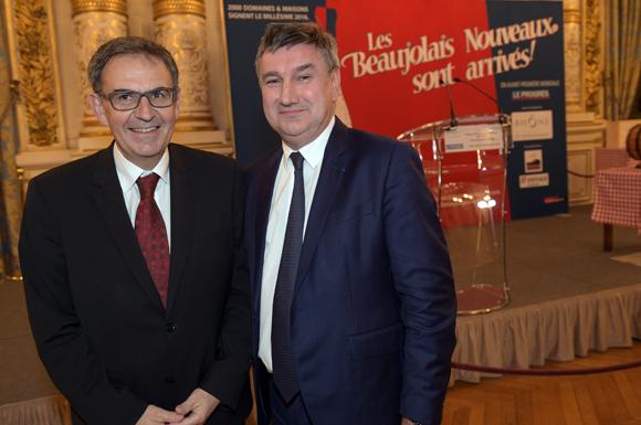 3. David Kimelfeld, maire de la Croix-Rousse et Christophe Guilloteau, président du Département du Rhône