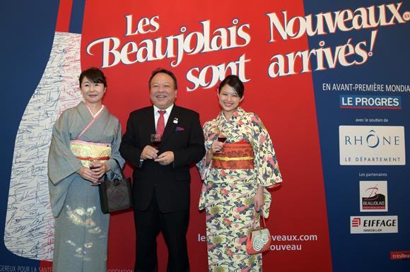 35. Ryuichiro Kobayashi, consul du Japon, son épouse Yukiko et Yuriko Nishikawa