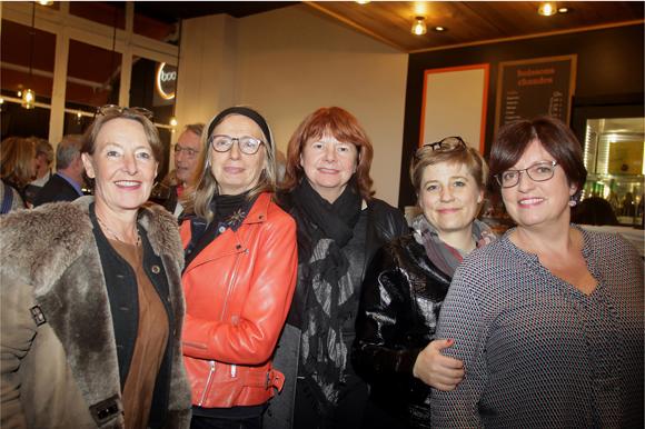 38. Laurence Mathieux (Pharmacie Foch), Véronique Mignot, Catherine Laurent (Hôtel Canabae, Handicap International), Laetitia Wiro (Opac du Rhône) et Agnès Caso (CréonsduSens)