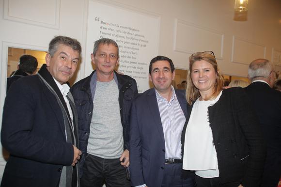43. Le chef Régis Marcon, le chef Alain Le Cossec, le chef Guy Lassausaie et Frédérique Ferniot (Boco)