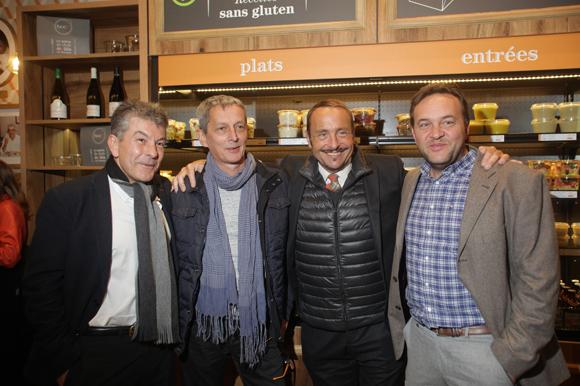 45. Le chef Régis Marcon, le chef Alain Le Cossec, Vincent Ferniot et le chef Emmanuel Renaut