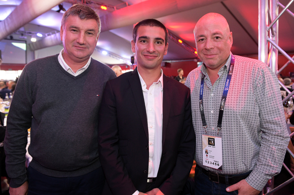 5. Christophe Guilloteau, président du Département du Rhône, Yann Cucherat, adjoint aux sports et Yvan Pattet (EM2C)