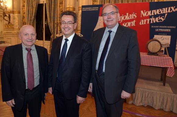 5. Jean-Claude Lassalle (Le Progrès), Philippe Cochet, député-maire de Caluire et Bernard Perrut, député-maire de Villefranche