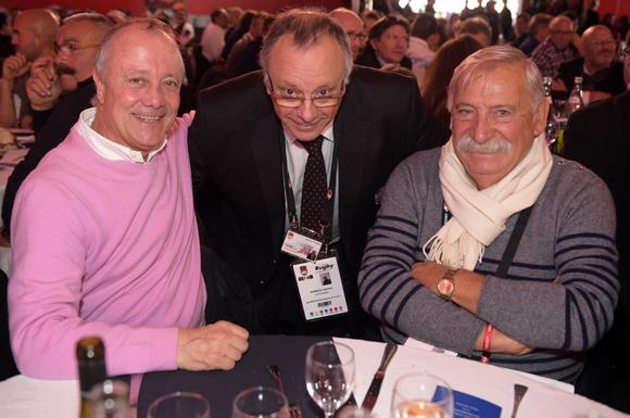6. Bernard Lacombe (OL), Léandre Borbon (LOU Rugby) et César Roger