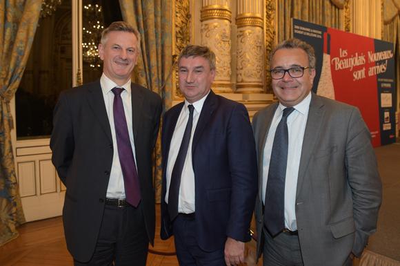 8. Pierre Fanneau, DG du Progrès, Christophe Guilloteau, président du Département du Rhône et Denis Broliquier, maire du 2ème