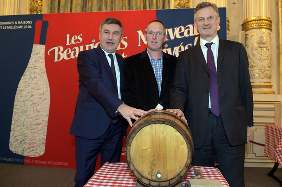9. Christophe Guilloteau, président du Département du Rhône, David Ratignier, vice-président d'inter Beaujolais et Pierre Fanneau, PDG du Progrès