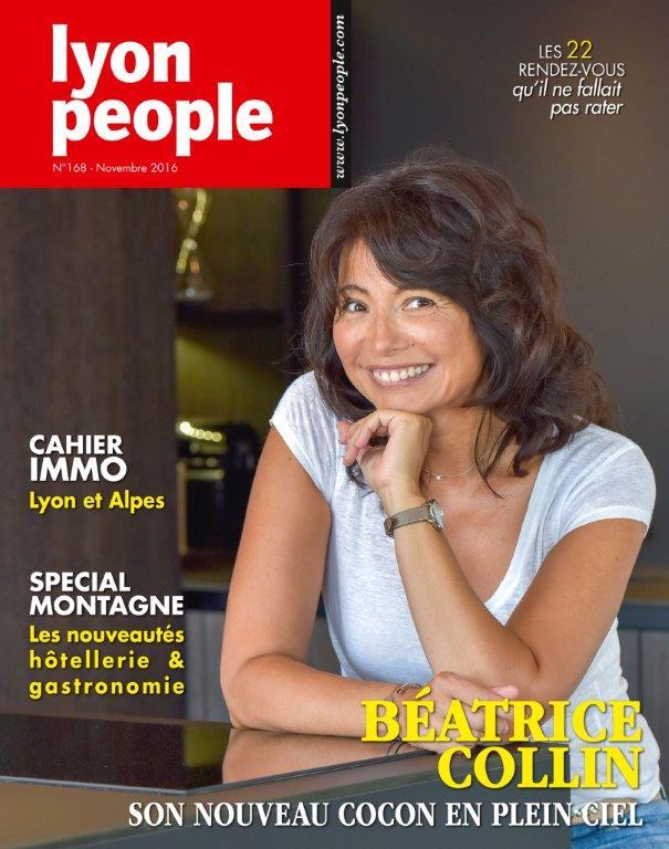 Béatrice Collin en couverture de Lyon People