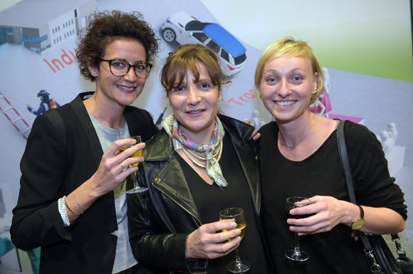 15. Les anciennes élèves, Nadège Pioton, Isabelle Roux et Sandrine Thevenet (Devernois)