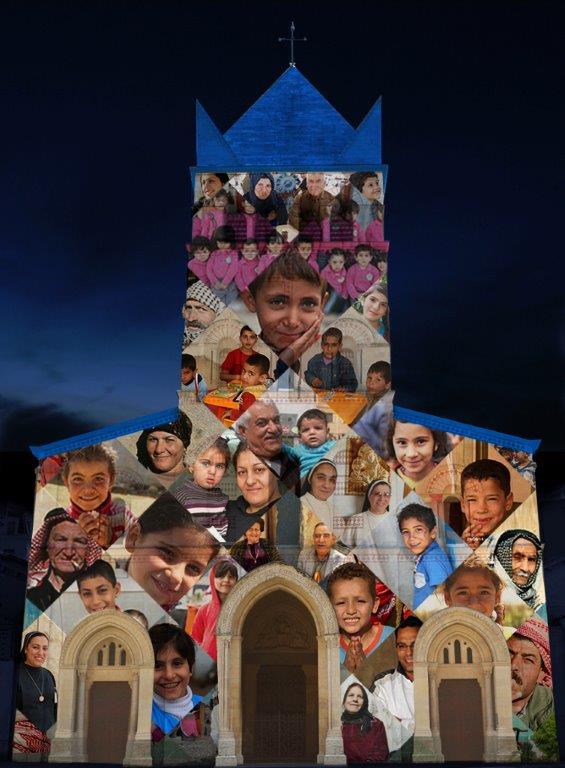 La basilique d'Ainay s'illumine pour l'Irak