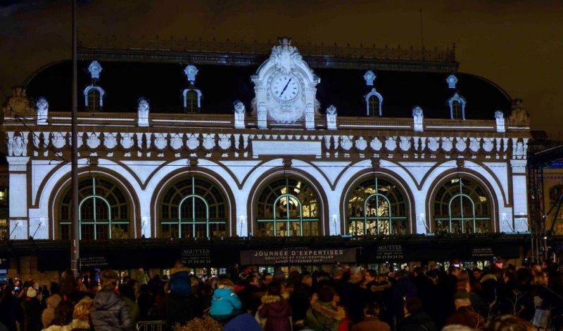 150 ans du 6ème. La Gare des Brotteaux illuminée