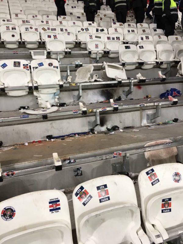 Parc OL. Le PSG prié de réparer les agissements de ses supporters