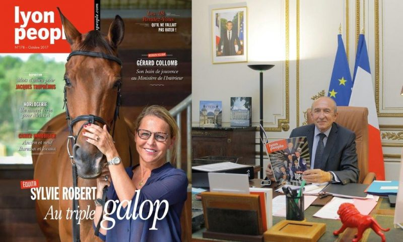 Sylvie Robert et Gérard Collomb en vedette du magazine Lyon People