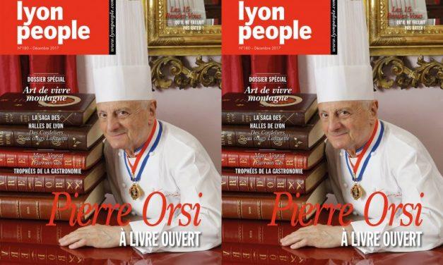 Pierre Orsi en couverture de Lyon People. Les Halles comme vous ne les avez jamais vues