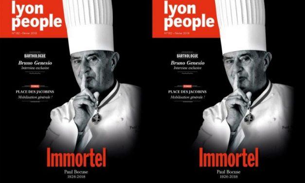 Paul Bocuse en couverture de Lyon People. Les coulisses d'un numéro collector