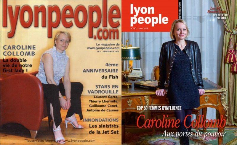 Caroline Collomb en couverture du nouveau Lyon People