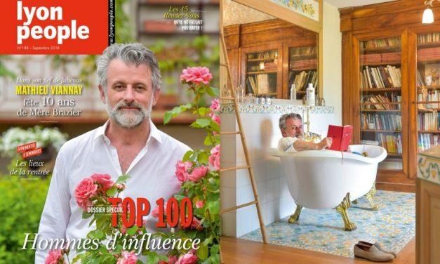 Top 100. Le chef Mathieu Viannay en couverture de Lyon People