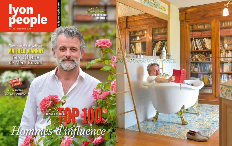 Top 100. Le chef Mathieu Viannay en couverture de Lyon People