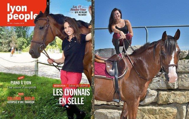 En selle ! Les amazones lyonnaises en vedette du magazine Lyon People