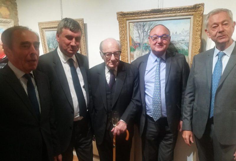 Galerie Alain Georges. A 94 ans, Jean Fusaro en mode vernissage