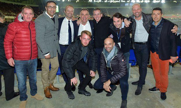 Les tribunes VIP d'OL–Hoffenheim. Zu traurig !