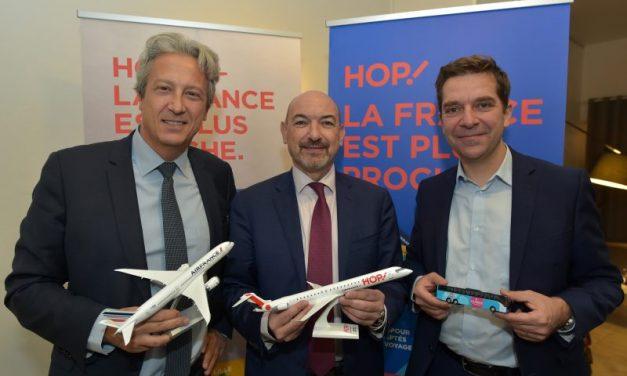 HOP ! Air France et OuiBus. Alliance inédite au départ de Lyon
