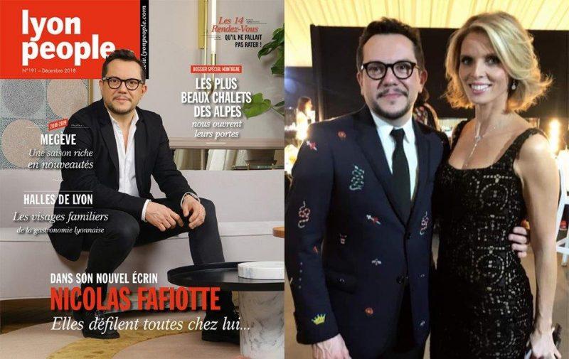 Le couturier Nicolas Fafiotte en couverture de Lyon People