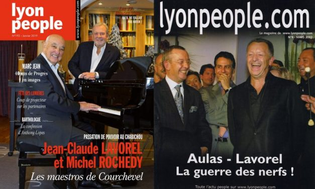 Jean-Claude Lavorel en couverture de Lyon People