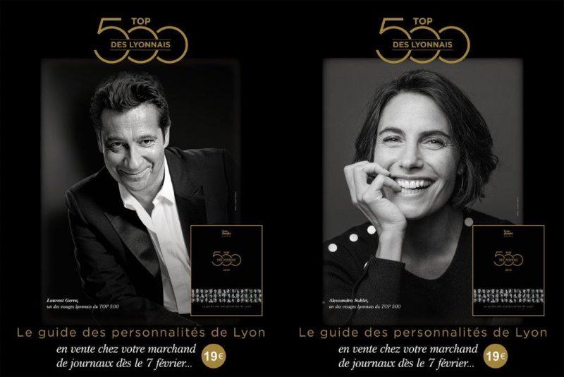 Top 500 des Lyonnais. Réseau d'influenceurs en trois dimensions