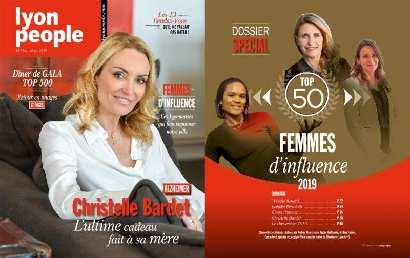Christelle Bardet et les Lyonnaises les plus influentes en couverture de Lyon People