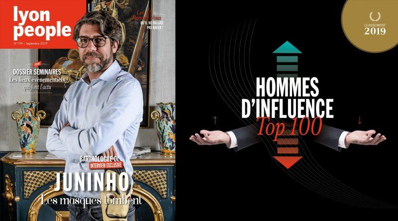 Juninho en couverture de Lyon People, spécial Top 100