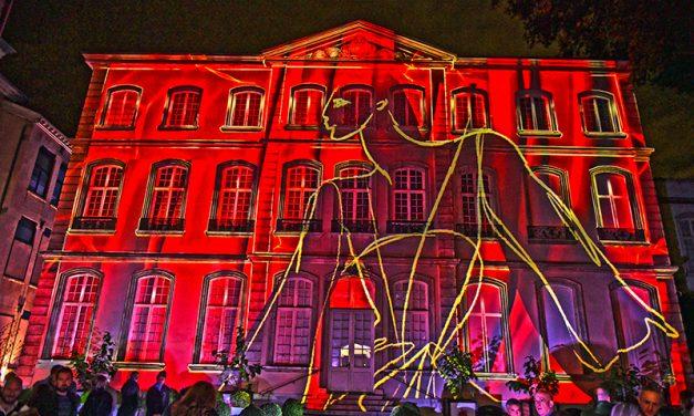 Vernissage de l'exposition Yves Saint Laurent. Le Musée des Tissus en pleine lumière